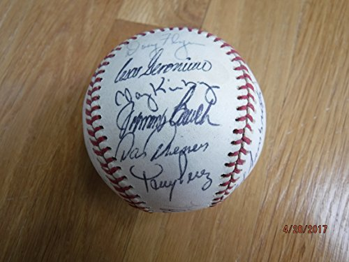 1975 REDS (Big Red Machine) Signed NL Baseball Rose,Borbon,Kirby,Sparky,Bench,etc.(26 ()