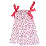 juDanzy cotton pillowcase dresses for girls & toddlers in various prints & sizes (6-8 Years, Tweet)