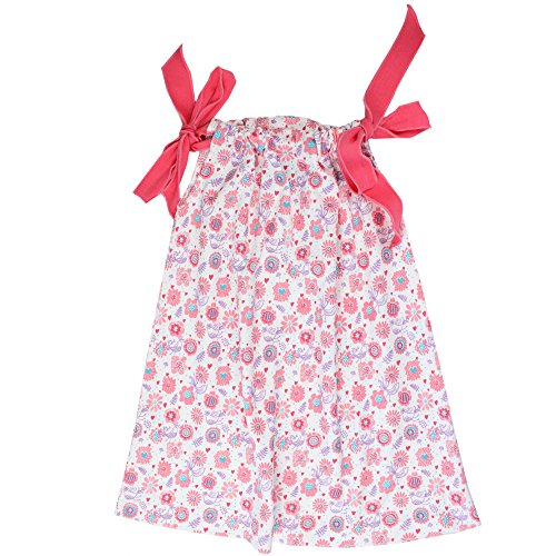 juDanzy cotton pillowcase dresses for girls & toddlers in various prints & sizes (6-8 Years, Tweet) (Childrens Clothes Pillow Case Dress)