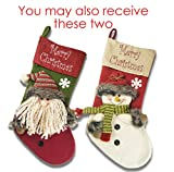 "Ivenf 2 Pack 18"" Plush 3D Classic Large Christmas Stockings Christmas Party Decoration"