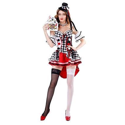 NIANzai Disfraz de Halloween for Mujer Adulto Corazón Rojo Reina ...