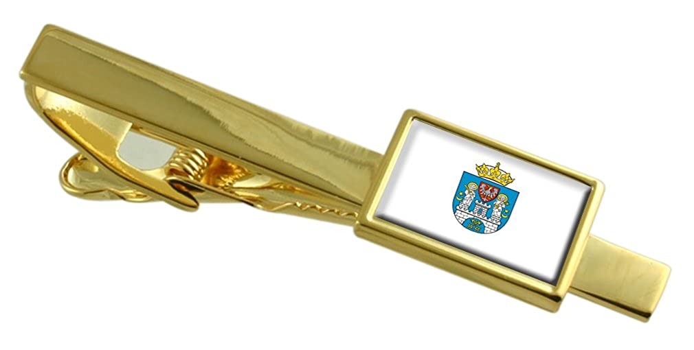Poznan City Poland Flag Gold-tone Tie Clip Engraved Personalised