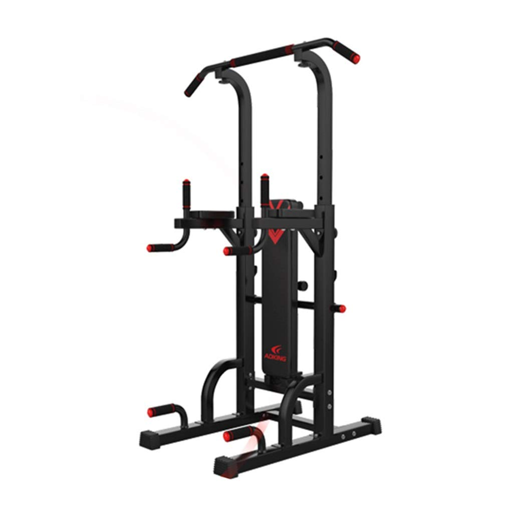 ディップスタンド水平バー平行棒ボクシングサンドバッグホーム多機能プルアップ屋内トレーニング用フィットネス機器 (Color : 黒, Size : 100*64*230cm) 黒 100*64*230cm