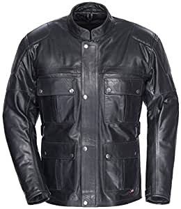TourMaster Lawndale Men's Leather Motorcycle Jacket (Black, Medium)