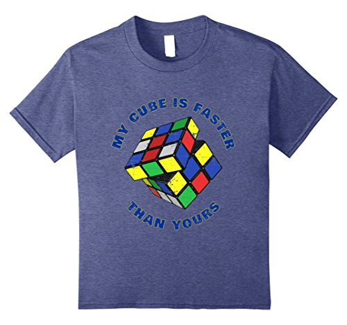 Price comparison product image Kids My Cube is Faster Than Yours for Cube Solvers Apparel & Gear 12 Heather Blue