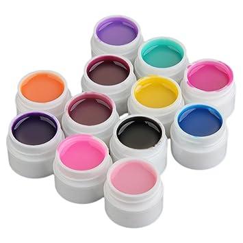 Kit de 12 Esmalte Uñas Gel UV para Decoración Manicura Uñas Postiza: Amazon.es: Hogar