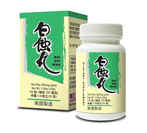 Bai Shi Wan Herbal Supplement Helps Skin Health 300mg 100 Pills Made in USA by Lao Wei