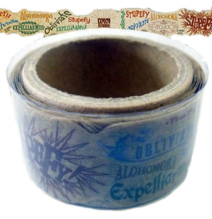 amazon com harry potter hogwarts spells die cut colorful tape roll