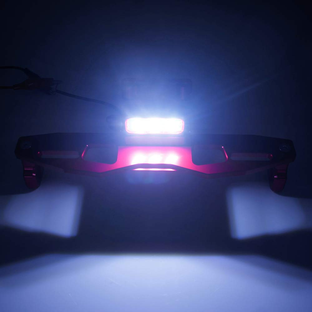 QIDIAN Motorcycle License Plate Bracket Holder Mount LED Light For Yamaha TFX150 Z125 Green