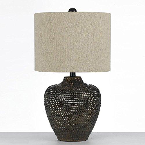Af Lighting Modern Table Lamp - AF Lighting 8559-TL Danbury Ceramic Table Lamp- Brown