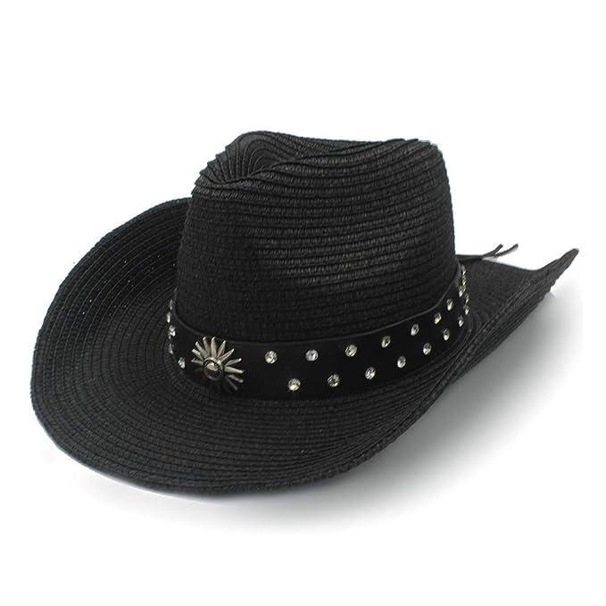 45224f031 Western Style Diamond Stud Punk Wind Cowboy Hat Men's Leather Belt ...