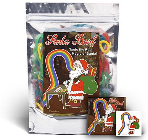 Santa Barf - Rainbow Lace Licorice - Funny Unique Christmas Stocking Stuffer Gag Gift for Teens, Girls, Boys and Kids (Licorice Christmas Gifts)