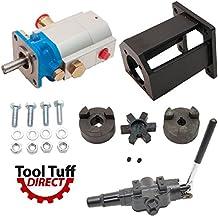 "ToolTuff Log Splitter Build Kit: 16 GPM Pump, Mount, A7 Auto Return Valve, Bolts, Coupler (For 1"" Engine Crankshaft)"