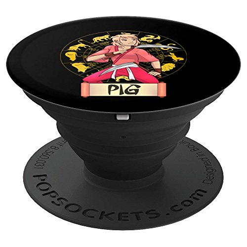 Year of the Pig Horoscope Animals Phone Grips Accessories - PopSockets Grip and Stand for Phones and Tablets