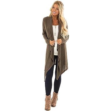 d0168f257c922f Hq Women's Windbreaker Soft Knit Loose Oversized Long Sleeve Cardigan  Sweater Wrap Jacket Coat Buttoned Windbreaker