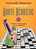 Quote Acrostic, Charles Preston, 0399527141