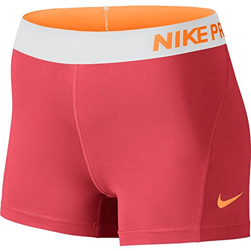 Nike Women's Pro Cool 3-Inch Training Shorts (Ember Glow/Bright Citrus/Medium) by NIKE