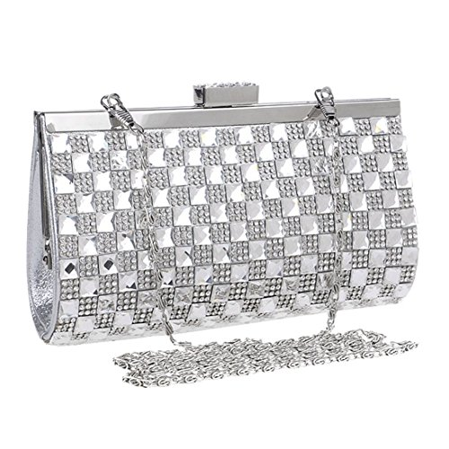 Purse Silver Silver Color Women's Crossbody Clutch KERVINFENDRIYUN Bag Evening Diamond Handbag 0qxzO