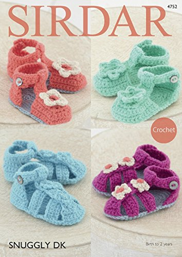 Amazon Sirdar Baby Sandals Shoes Crochet Pattern 4752 Dk Home