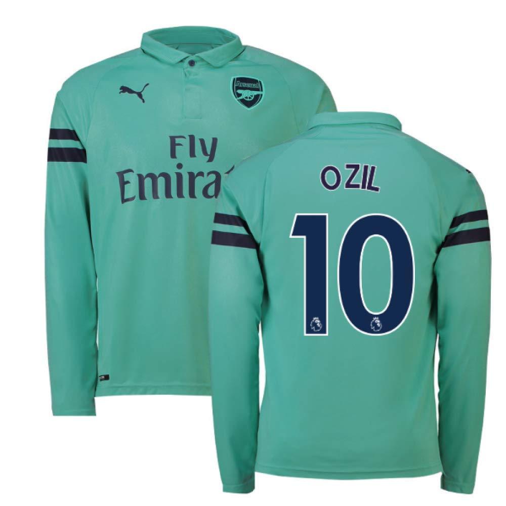2018-2019 Arsenal Puma Third Long Sleeve Football Soccer T-Shirt Trikot (Mesut Ozil 10)