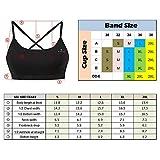 Rabrgab Women's Sports Bras Adjustable Strap and