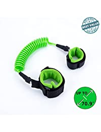 Anti Lost Wrist Link Baby Toddler Kid | Child Safety Strap Velcro | Wristband Leash/Harness | Blue - Green - Red | Cotton Wrist Straps | Coated Metal Spring Wire | 1.8 meters (Green) BOBEBE Online Baby Store From New York to Miami and Los Angeles