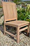 Marlborough - Solid Teak Fixed Chair - Contoured Back