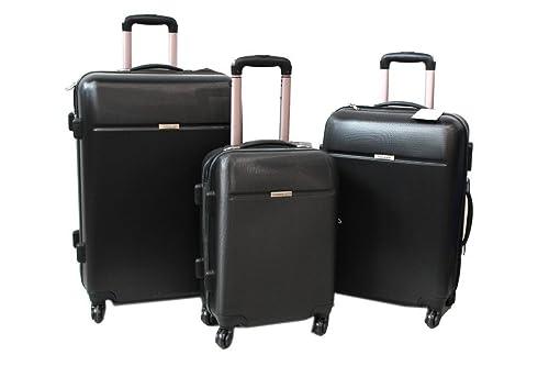 Set Trolley You Bag 3 pz l.abs viaggio vacanze 3003 nero  Amazon.it  Scarpe e  borse 23b4f5858ebe