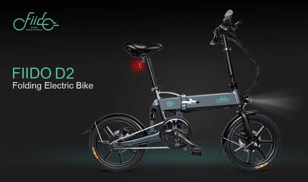 in weiß Dieron Faltendes Elektrisches Fahrrad,Wasserdichtes 250W 36V E-Bike Radsport