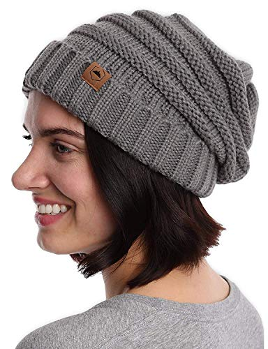(Tough Headwear Cable Knit Beanie - Thick, Soft & Warm Chunky Beanie Hats for Women & Men)