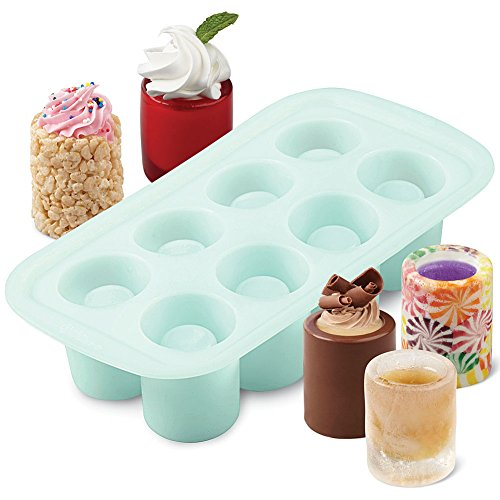 Wilton Shot Glass Drink And Dessert Silicone Mold - Ice Glasses Treat Cups