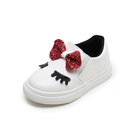 Zapatos de Bebé 💋💝 Yesmile Niños Moda Niñas Bebé Bowknot Tímidos Ojos Zapatillas de Niños Zapatos Casuales: Amazon.es: Ropa y accesorios