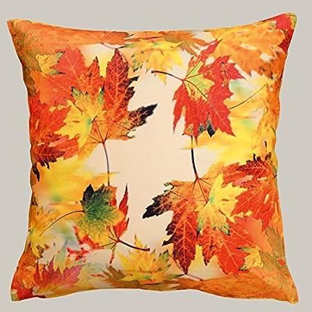 Kamaca Serie Herbstliches Laub Druck-Motiv mit Herbstlaub EIN Schmuckstück Herbst Winter (40x40 cm Kissenhülle)