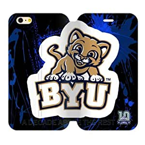 Generic Custom Unique Otterbox You Deserve--Brigham Young University NCAA BYU Cougars Teams Logo PC and High Grade PU Leather Case For HTC One M7 Cover