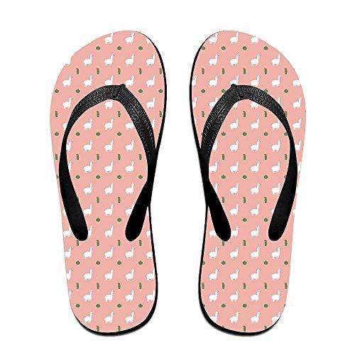 1f05843ea6ee60 Kawaii Llama And Cactus Unisex Fashion Beach Sandals Classical Flip Flops  Thong Sandals hot sale
