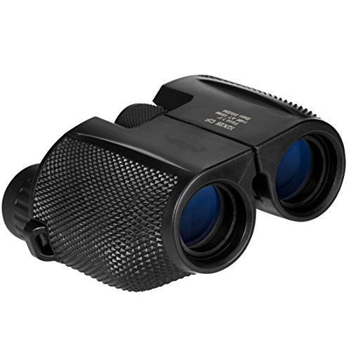 Anksono Anksono 10x25 Folding High Powered Binoculars with Weak Light Night Vision Clear Bird Watching Great for Outdoor Sports Games and Concerts, Black price tips cheap