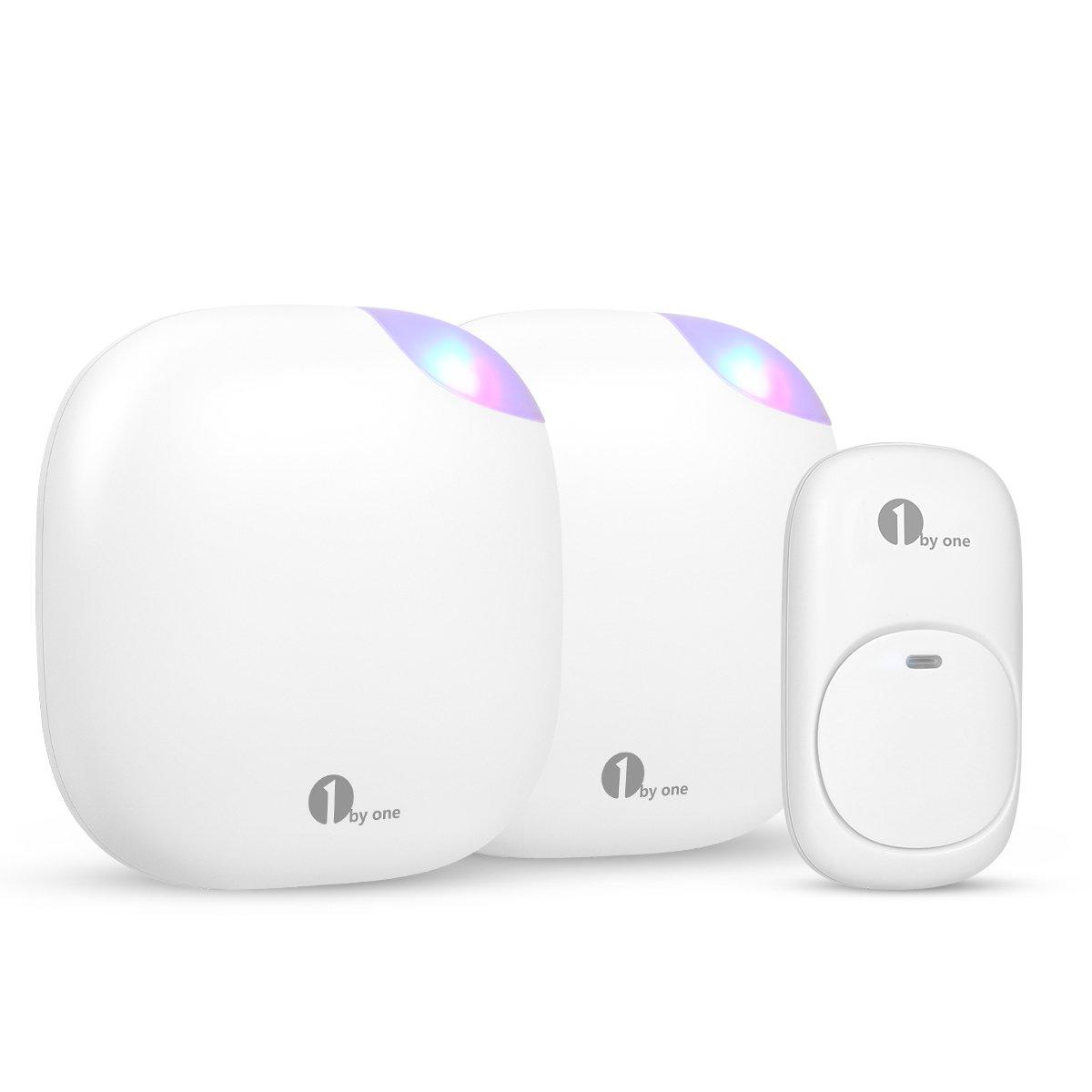 1byone O00QH-0761-VC Wireless Doorbell, White