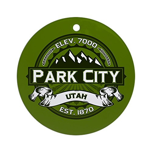 CafePress Park City Olive Ornament (Round) Round Holiday
