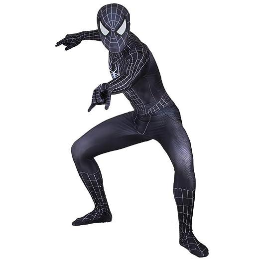 YIWANGO Adulto Niños Traje Negro De Spiderman Cosplay De Halloween ...