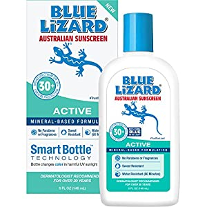Blue Lizard Australian Sunscreen - Active Sunscreen SPF 30+ Broad Spectrum UVA/UVB Protection - 5 Ounce Bottle