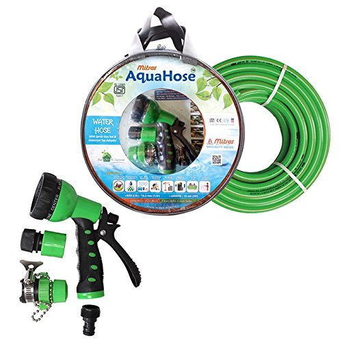 AquaHose 15mtr ISI Water Hose Set for Garden Shower  12.5mm ID