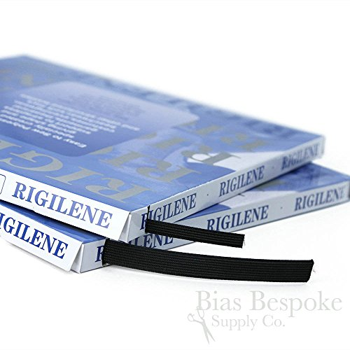 50 Yard Box of Rigilene Polyester Boning, 1/4'' wide, Black by Bias Bespoke