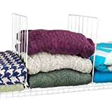 Evelots Coated Wire Closet Shelf Dividers, Clothes Organizer & Storage, Set Of 4