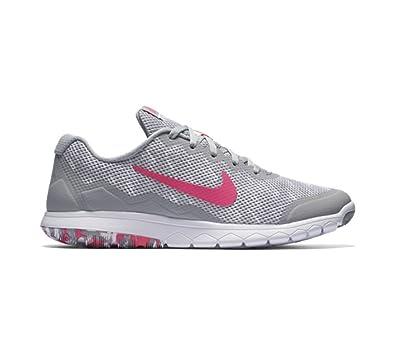 bddd9c6e35943c Nike New Women s Flex Experience RN 4 Prem Running Shoe Grey Pink 6