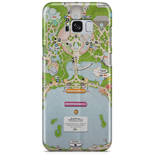 Queen of Cases Hard Shell Phone Case - Epcot Center - Map Queens Center