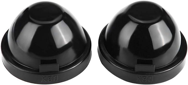 Fydun LED Scheinwerfer Staubgeh/äuse 2Pcs 90mm Schwarz Gummi Auto LED Scheinwerfer Staubschutz Geh/äuse Verschlusskappe Wasserdicht