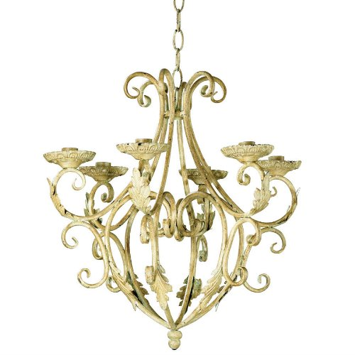 Old World Wrought Iron Candle Chandelier AEW