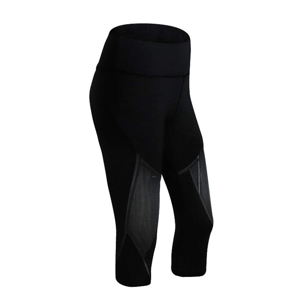 ad4862818a6bb5 Amazon.com: HEJANG Women's Yoga Sports Workout Slimming Leggings Exercise  Running Soft Wide Waistband Pants Gym 2019: Clothing