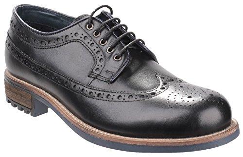 Cotswold Hombre Cotswold Poplar Brogue Zapatos Calzado Casual Zapatillas Black