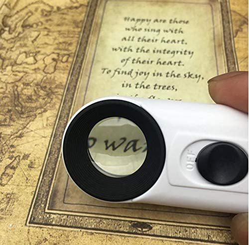 Pack of 1 Handheld Magnifier by Boershun Portable 40x Magnifying Glass with 2 LED Lights for Education,Home and Office,Industrial Inspection